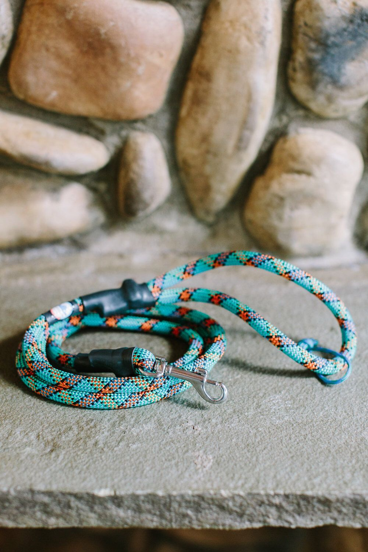 Climbing Rope Dog Leash // Turquoise Blue Dog Leash