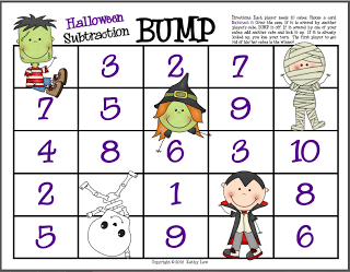 First Grade A La Carte Mastering Those Facts Halloween Math Activities Halloween Math Halloween Math Games