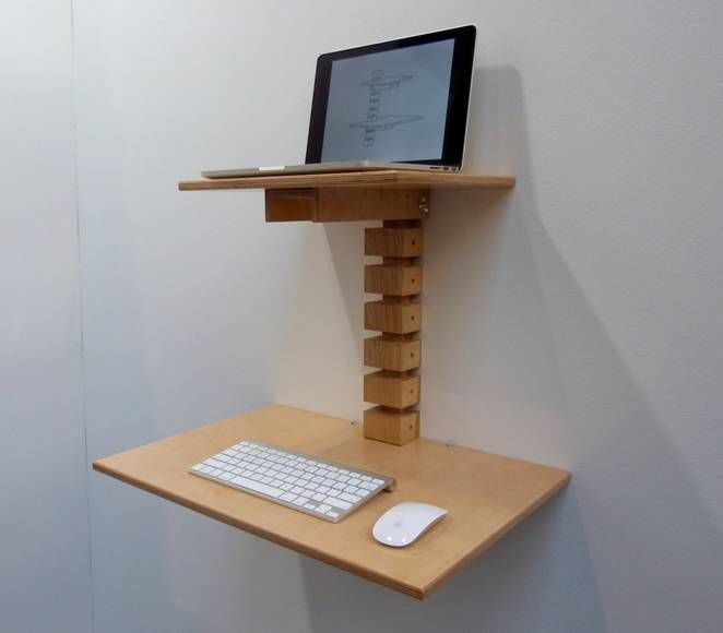 Wall Mounted Standing Desks This Compact Standing Desk Boasts A Minimalist Design Gallery Diy Standing Desk Diy Standing Desk Plans Standing Desk Plans