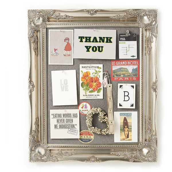 horsfall & wright Ornate Silver Framed Pinboard Noticeboard (170 BRL) ❤ liked on Polyvore featuring home, home decor, wall art, silver home accessories, framed wall art, silver wall art, silver framed wall art and silver home decor