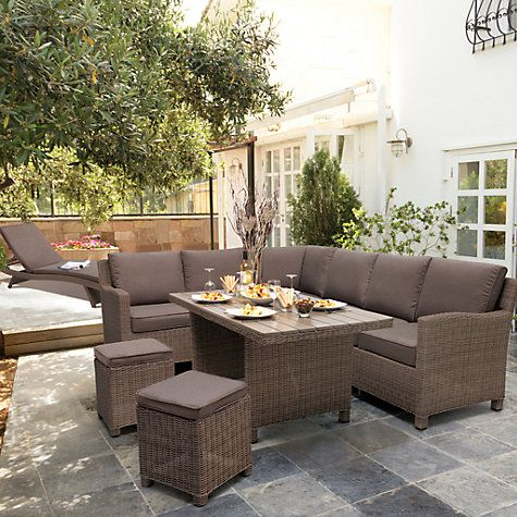 KETTLER Palma 8 Seater Garden Corner Lounging Table and Chairs Set ...