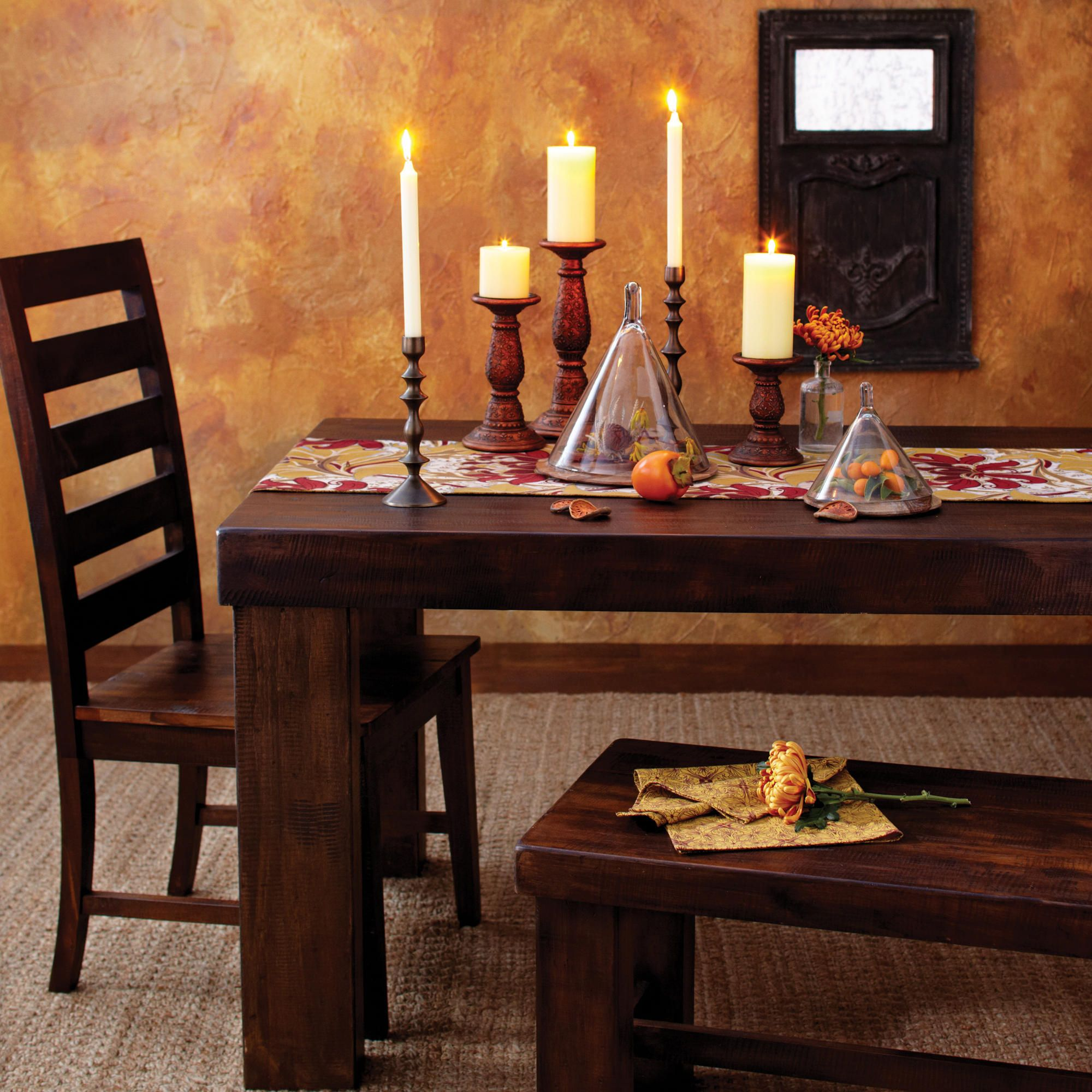 World Market Garner Table/chair Francine Dining Bench