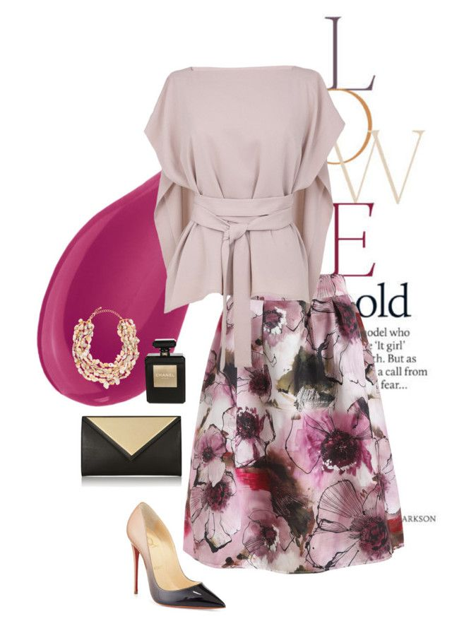 Berries & Cream by asilosky on Polyvore featuring polyvore, mode, style, TIBI, Christian Louboutin, Givenchy, Chanel, Kenneth Jay Lane, Too Faced Cosmetics, ASOS, fashion and clothing