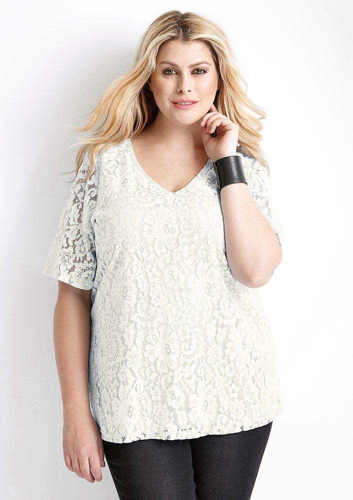 907e4ea42b06 Seje Hvid Bluse med Blonder Zhenzi Modetøj til Damer i lækker kvalitet