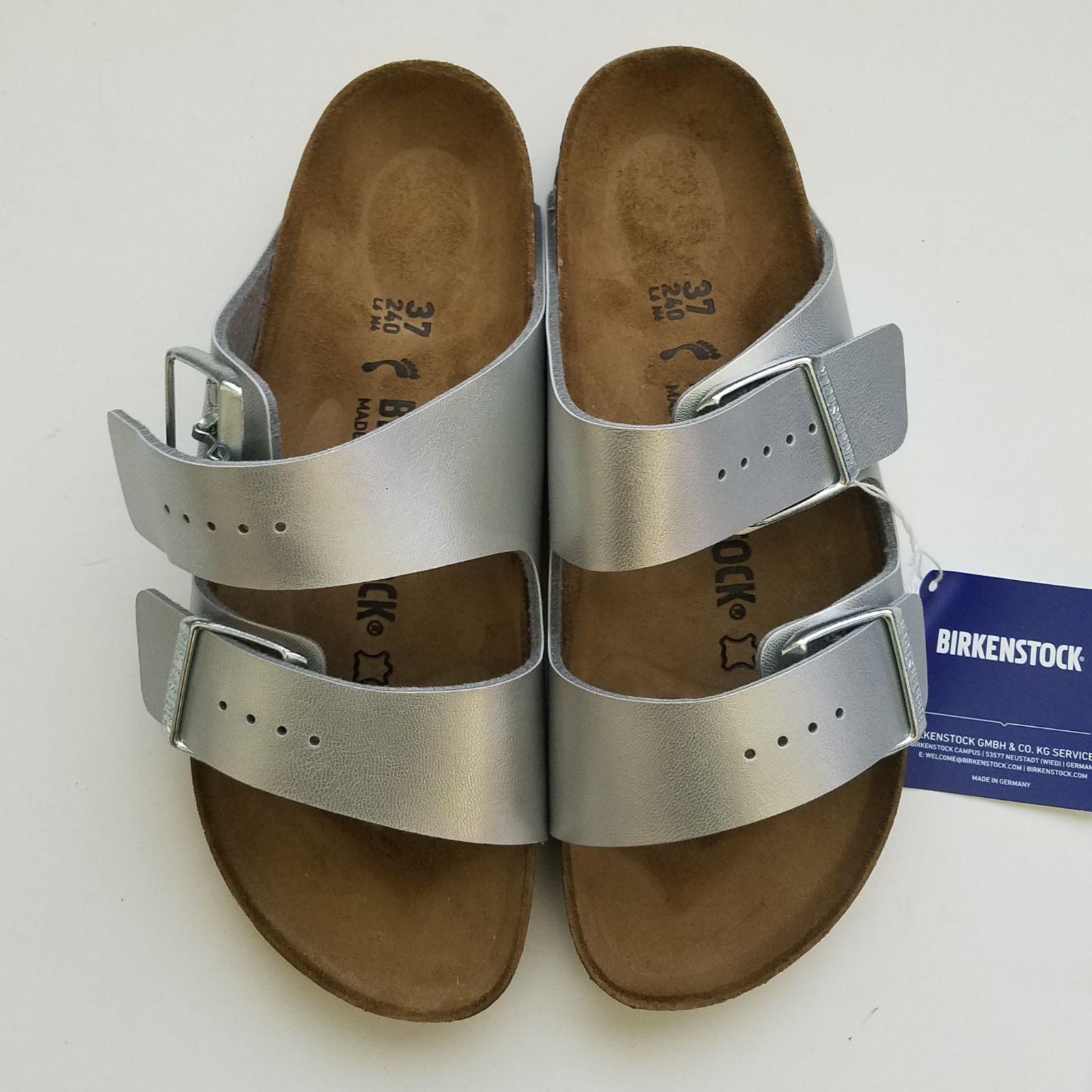 Birkenstock Arizona silver Sandals size