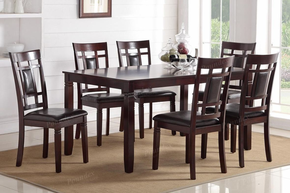 Brown Wood Dining Table And Chair Set Steal A Sofa Furniture Outlet Los Angeles Ca Cheap Dining Chairs Dining Table Wood Dining Table