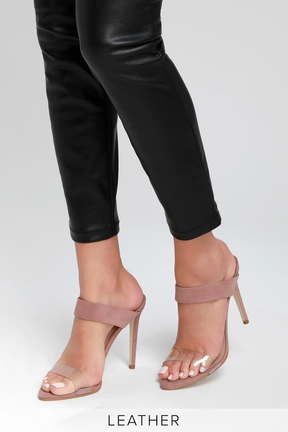 a9fda60a0ace2 Lulus | Amaya Blush Nubuck Leather High Heel Sandal Heels | Size 5.5 ...
