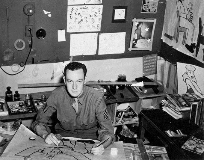 Stanley Martin Lieber, per tutti Stan Lee, al lavoro. Il creatore di Spider Man, degli Avengers e di numerosi altri supereroi, ha prestato servizio negli Army's Signal Corps (i reparti di comunicazione dell'esercito americano), realizzando spot propagandistici durante la seconda guerra mondiale.  #stanlee #comics #cult #marvel #WWII #cultstories