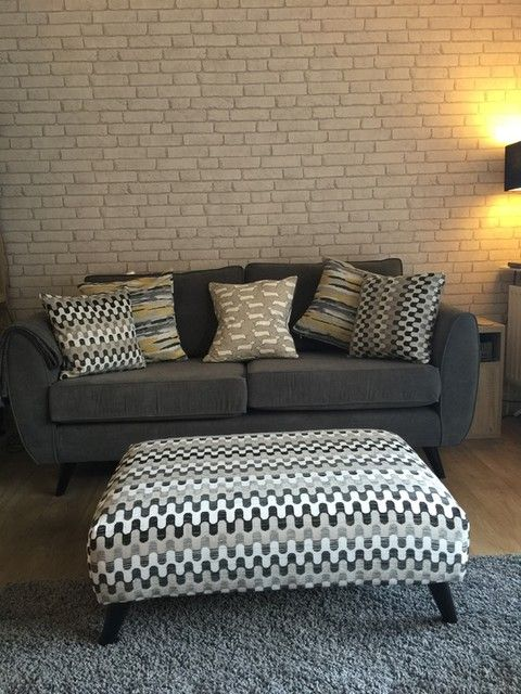 aurora 3 seater french connection exclusively at dfs. Black Bedroom Furniture Sets. Home Design Ideas