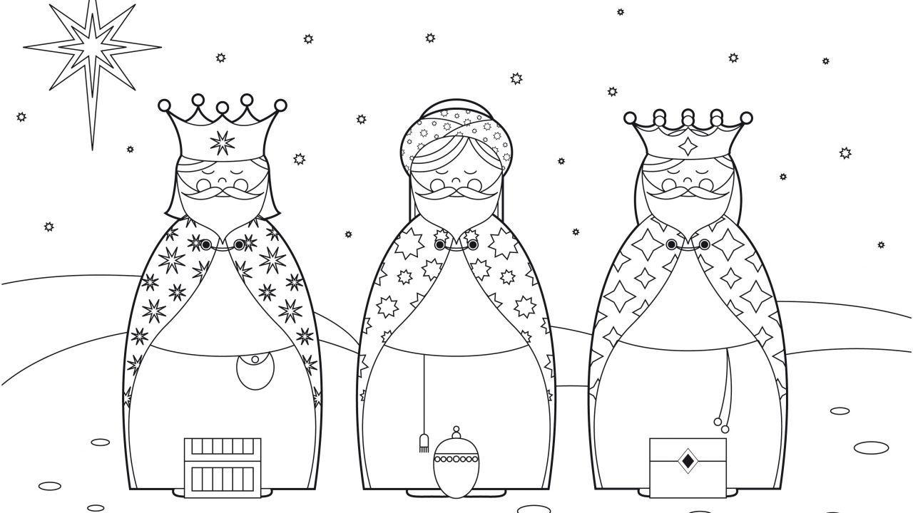 Dibujos De Reyes Magos Para Colorear 3 Reyes Magos Para