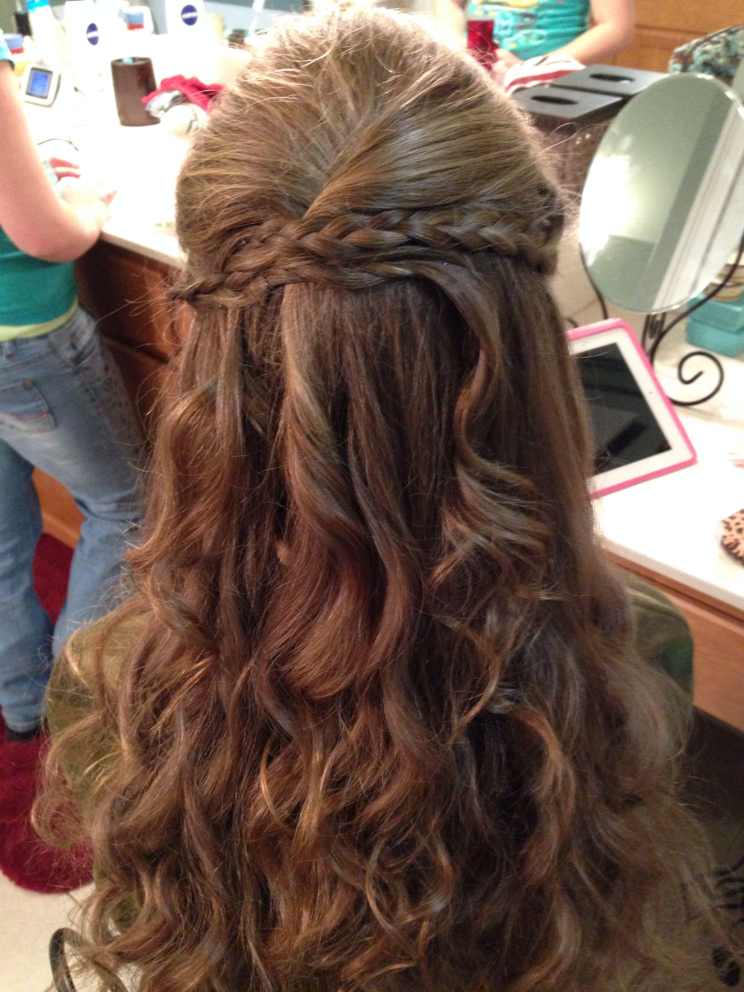 Cute braided hairstyle hair pinterest hair claw and easy hair