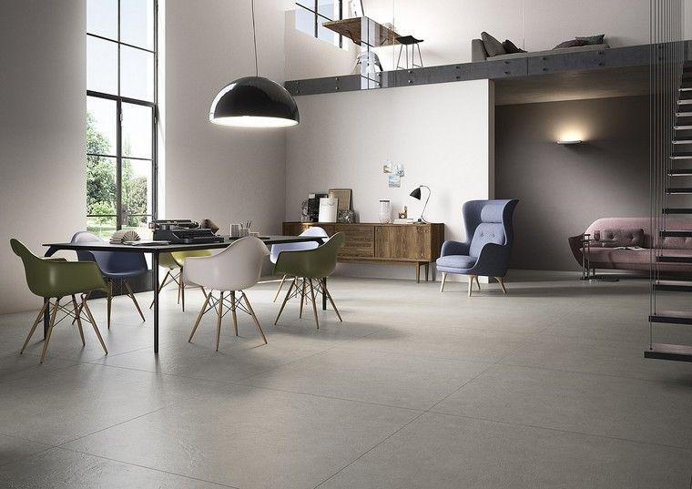 Carrelage Gris Beton Idee Design Tendance Look Modern Living Room Home Grey Tiles
