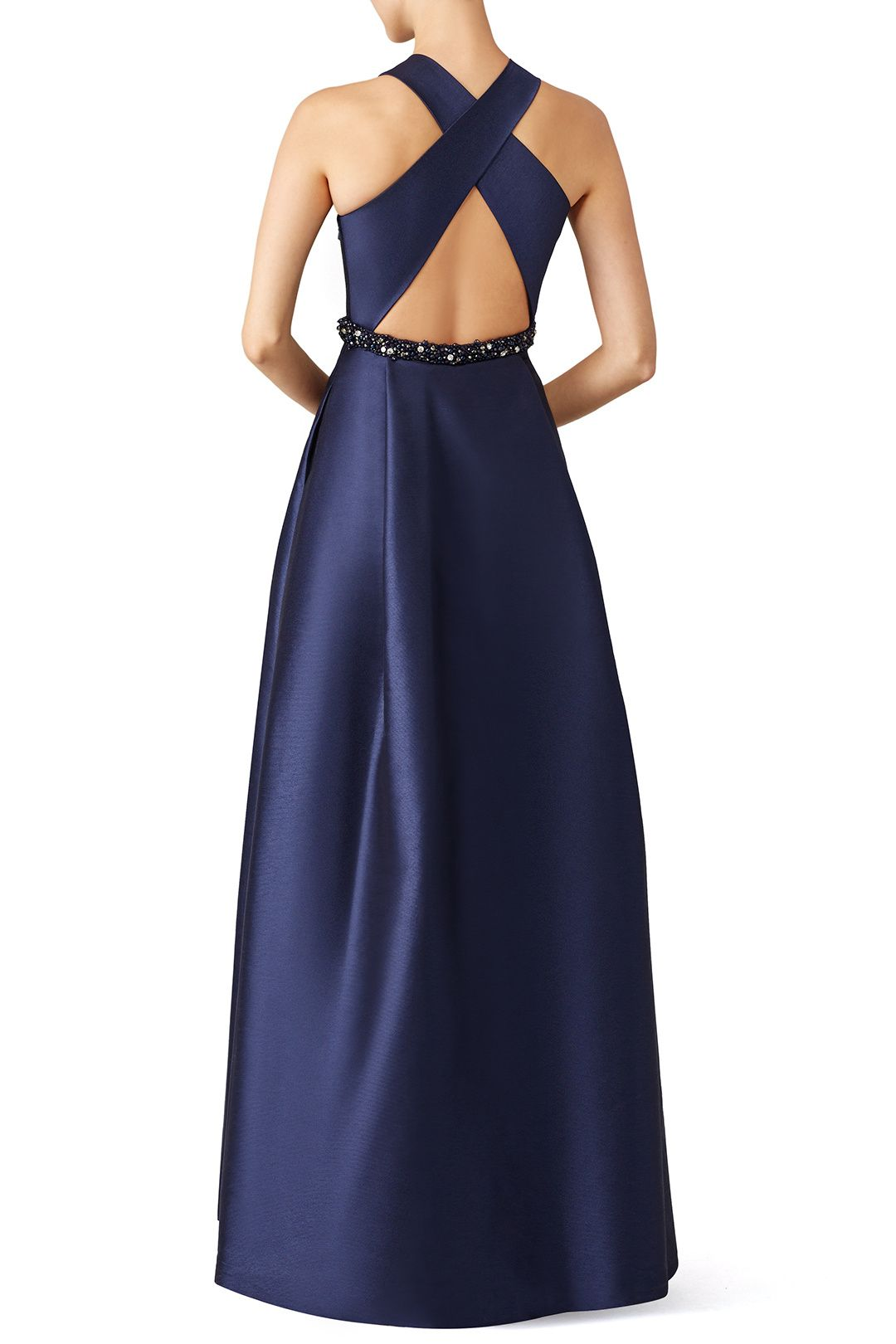 Navy Jadore Gown by ML Monique Lhuillier for $95 | Rent the Runway ...