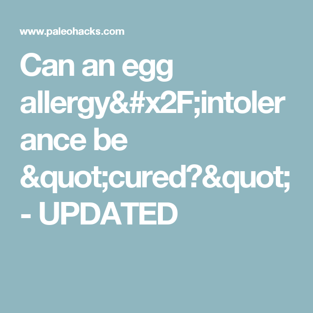 help on paleo diet but allergic to eggs