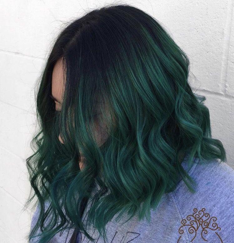 Green Hair Colors Image By Caitlyn Casey On Green Hair Dark