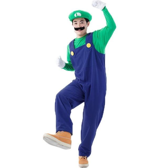 Halloween Costumes Men Women Super Mario Luigi Brothers | Halloween | Pinterest | Luigi Halloween costumes men and Mario  sc 1 st  Pinterest & Halloween Costumes Men Women Super Mario Luigi Brothers | Halloween ...