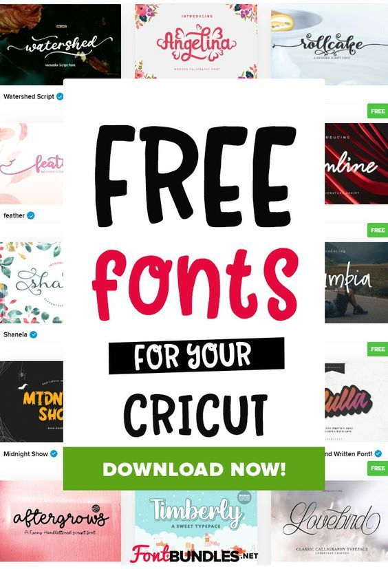 Download Free Fonts for Cricut and Silhouette Crafters in 2020 ...