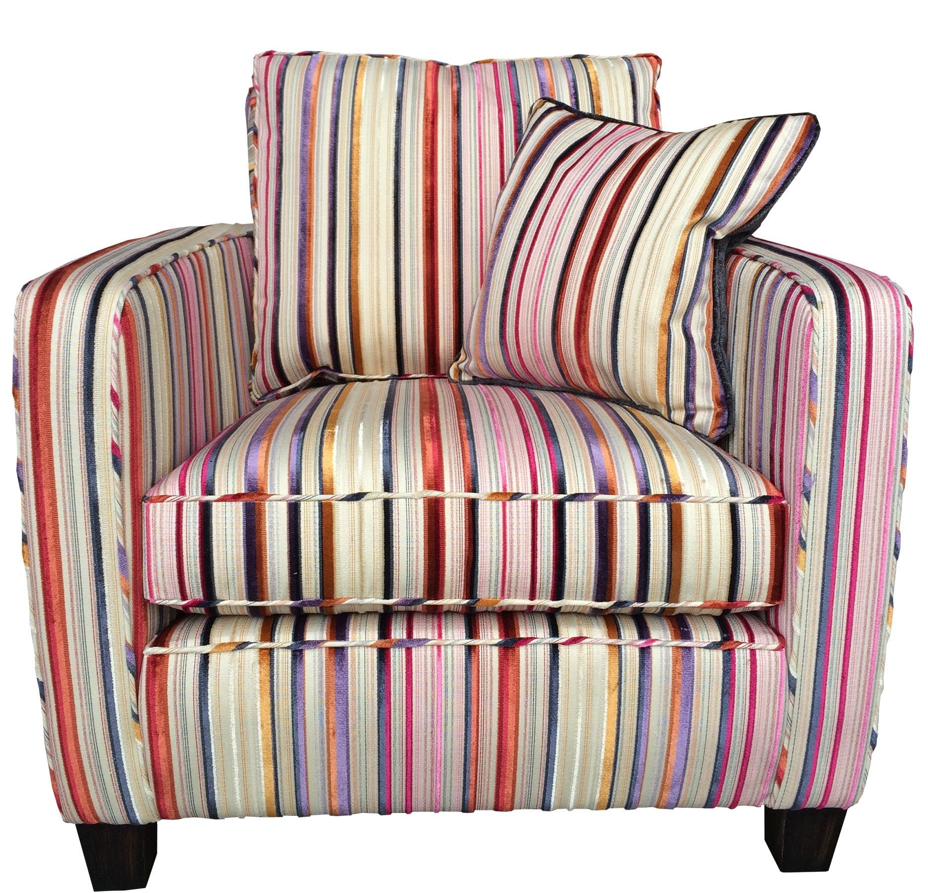 Clearance Duresta Viola Chair Bancroft Stripe Faberge