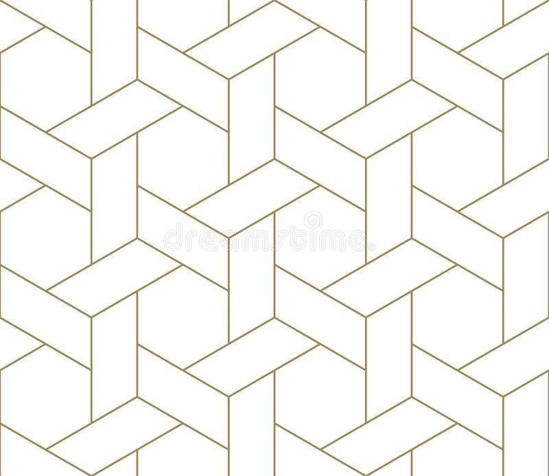Modern Simple Geometric Vector Seamless Pattern With Gold Line Texture On White Ad Pattern S Geometric Vector Seamless Patterns Simple Geometric Pattern White and gold wallpaper repeating