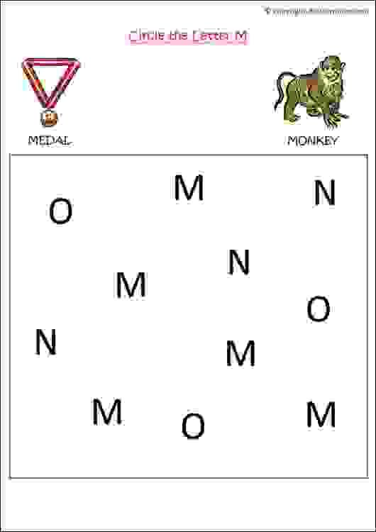 English Letter Recognition Worksheets For Nursery Kids To