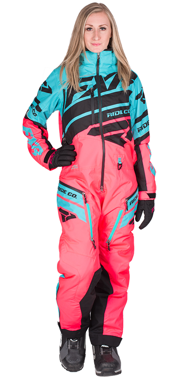 8dc4ffdb00 FXR Women s BOOST LITE MONOSUIT at Up North Sports Coral and Mint Snow suit  One Piece Snowmobile Suit