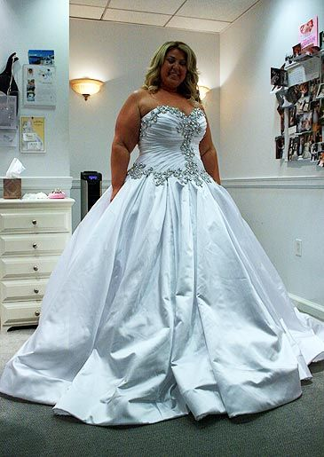Custom plus size wedding dresses by darius bridal design for Plus size bling wedding dresses