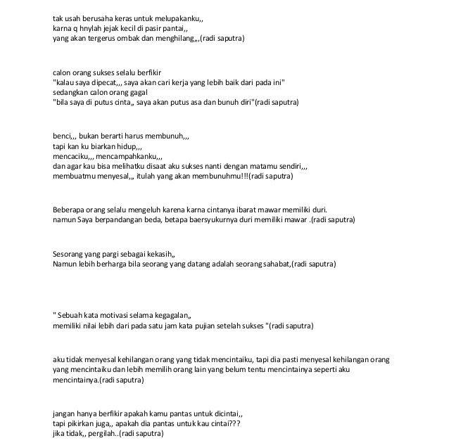 Gambar Kata Kata Motivasi Saat Putus Cinta-  Aku hanya berharap dapat melepaskan perasaan ini secepat aku kehilanganmu. Di saat pekerjaan serta kehidupan yang dinamis ini ada baiknya sebagai manusia bisa saling memberikan semangat postif kepada sesama.  Kata Kata Ini Saya Buat Hanya Sebatas Untuk Motivasi - Download  Ketika Kamu Sedih Putus Asa Video Motivasi Spoken Word Merry Riana - Download  25 Kata Kata Putus Cinta Sedih Yang Sesuai Perasaan Kutipkata - Download  Inilah aneka kutipan mutiara Kata Bijak Pekerjaan katakatahd.blogspot.com