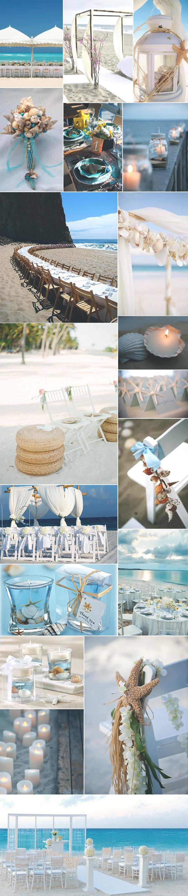 Ideias de decoração para quem quer casar na praia ☼