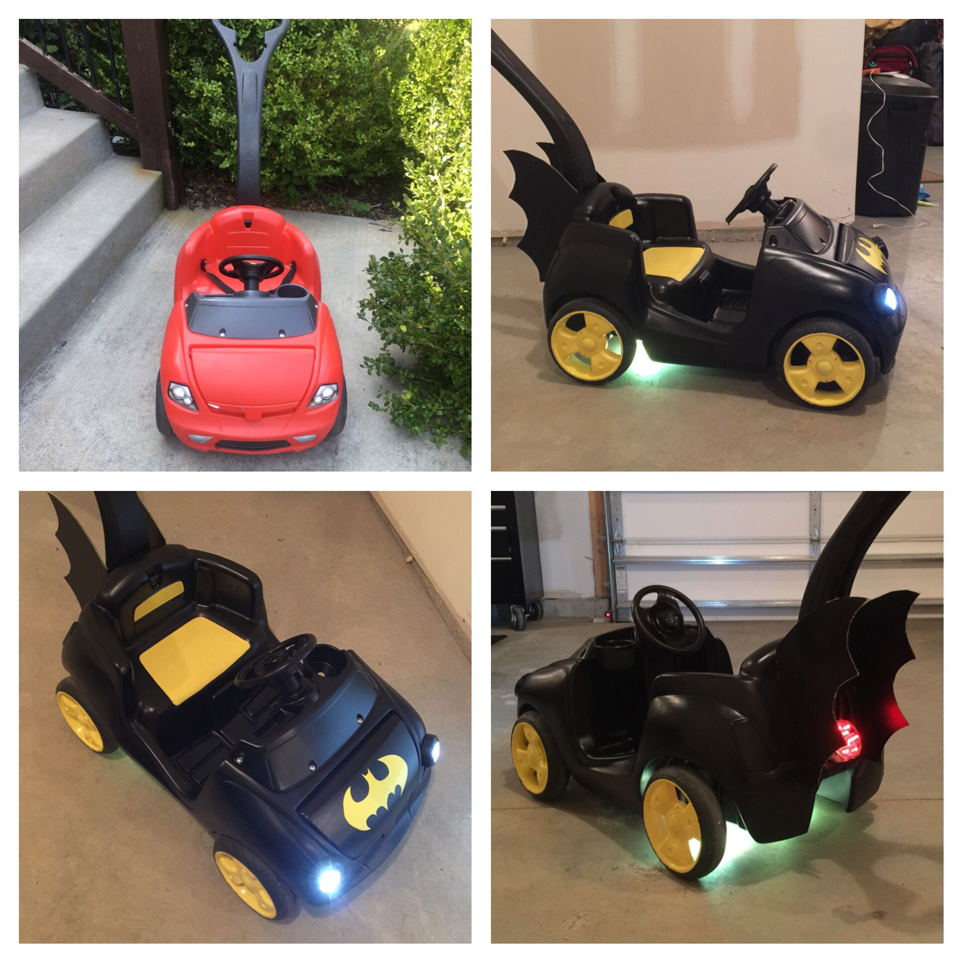 Halloween Bettwäsche Made This Bat Mobile For Halloween Craigslist Step2 Red Push Car