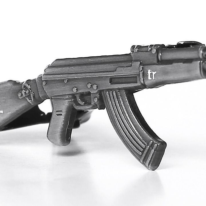 AK-47 Tie Clip by trashness
