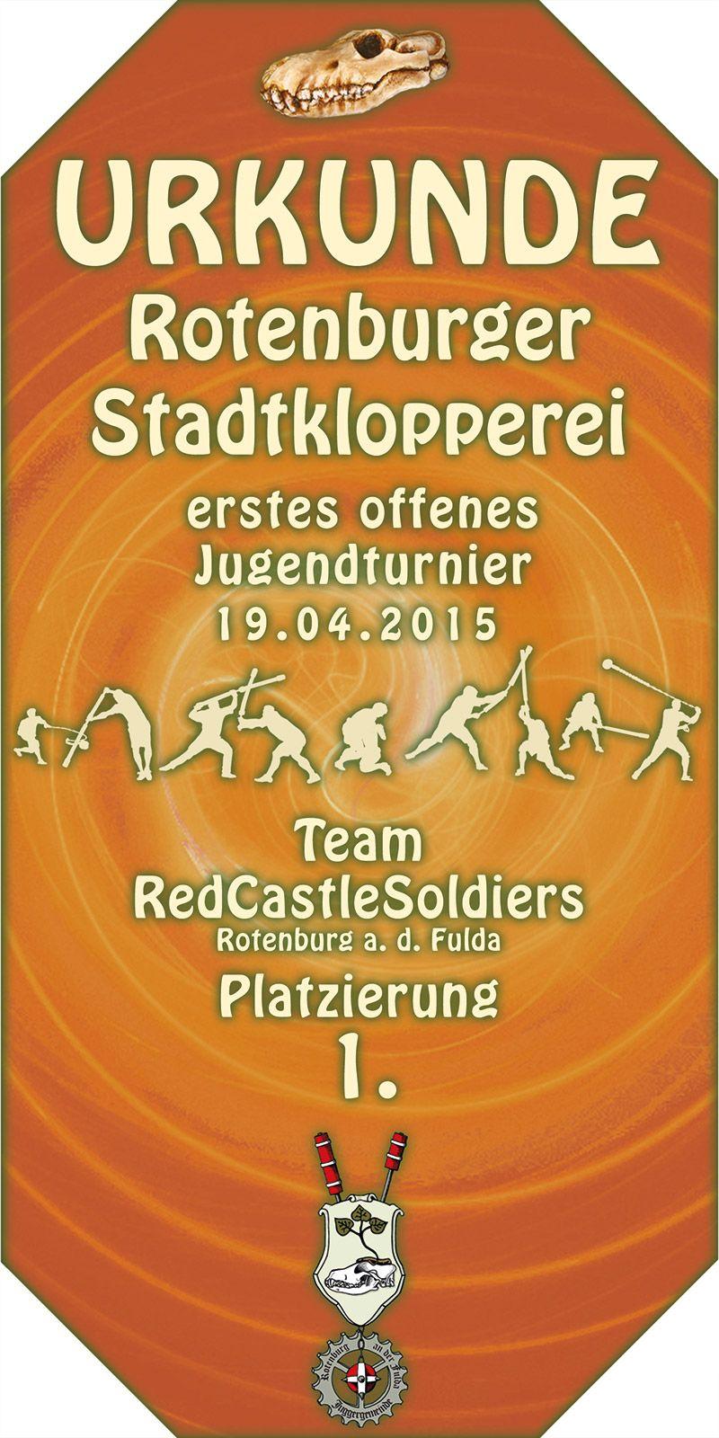 Rotenburger Stadtklopperei 2015, Jugendturnier, Red Castle Soldiers