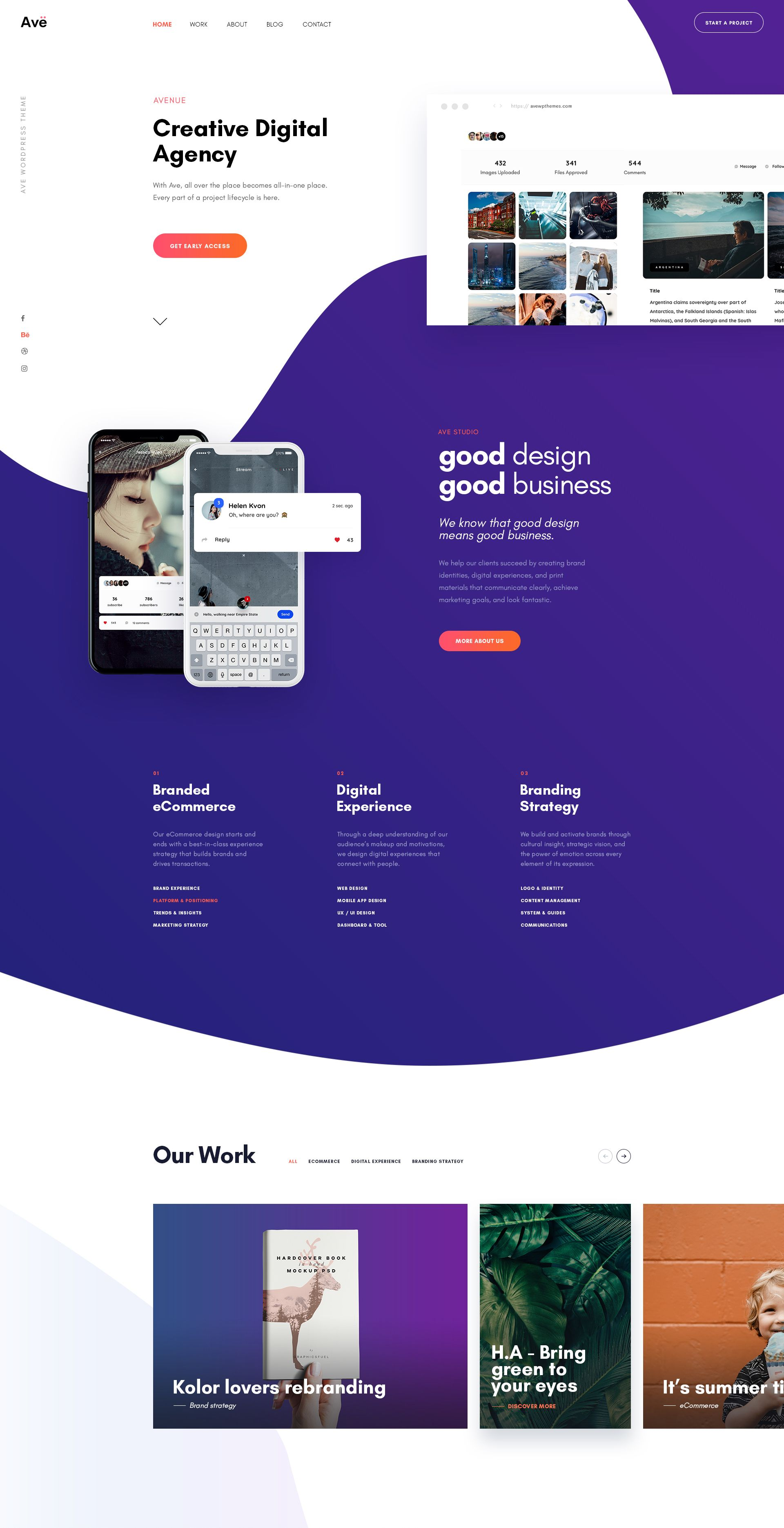 Ave Creative Agency Website Design Layout Agency Website Design Web Design Websites