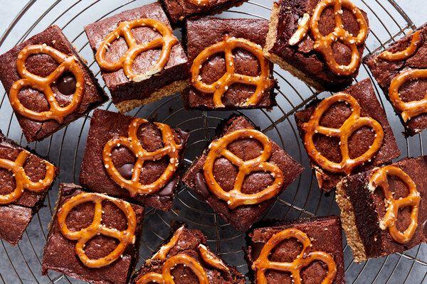 Salted Pretzel Brownies Recipe Salted Pretzel Brow