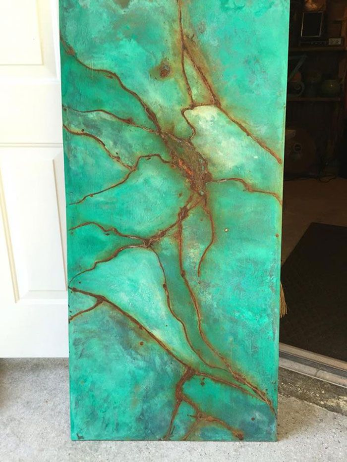Exceptionnel Using Metal Effects To Create A Faux Turquoise Gem Wood Wall Art Piece |  Project By