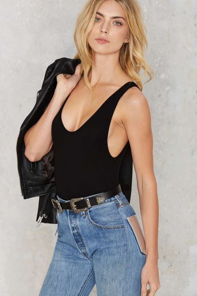 f854a1ee43b Nasty Gal Let's Get Physical Ribbed Bodysuit - Best Sellers | Back ...