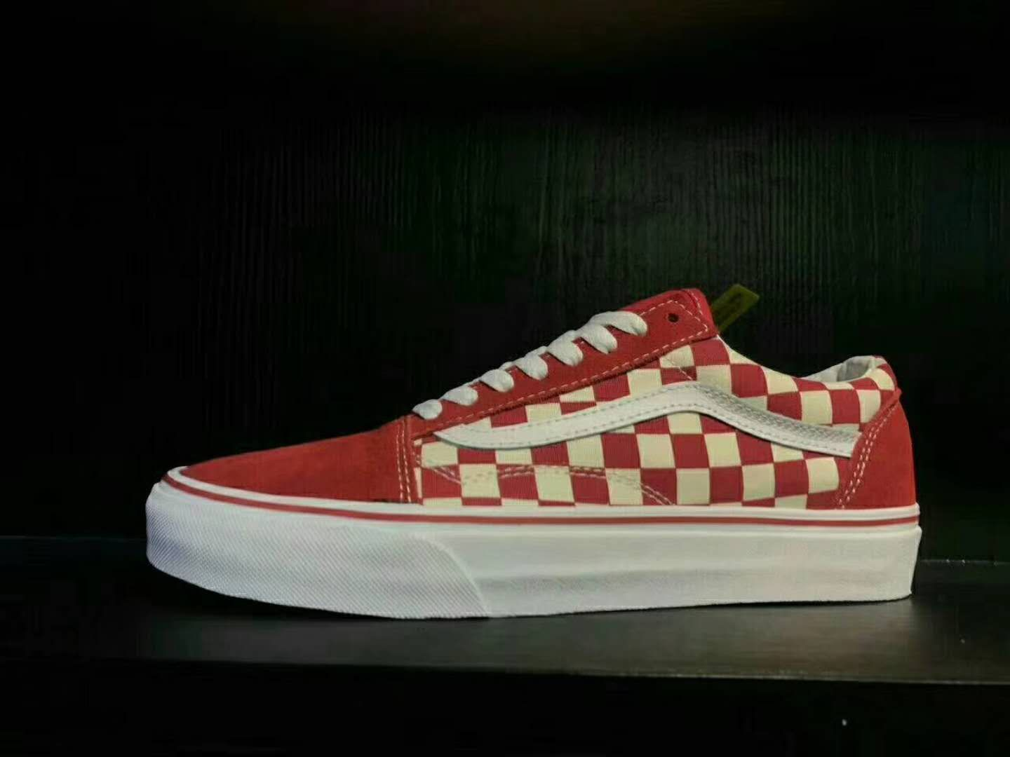 40a82ae5728855 Authentic Van Old Skool Primary Check VN0A38G1P0T Red White Vans For Sale   Vans