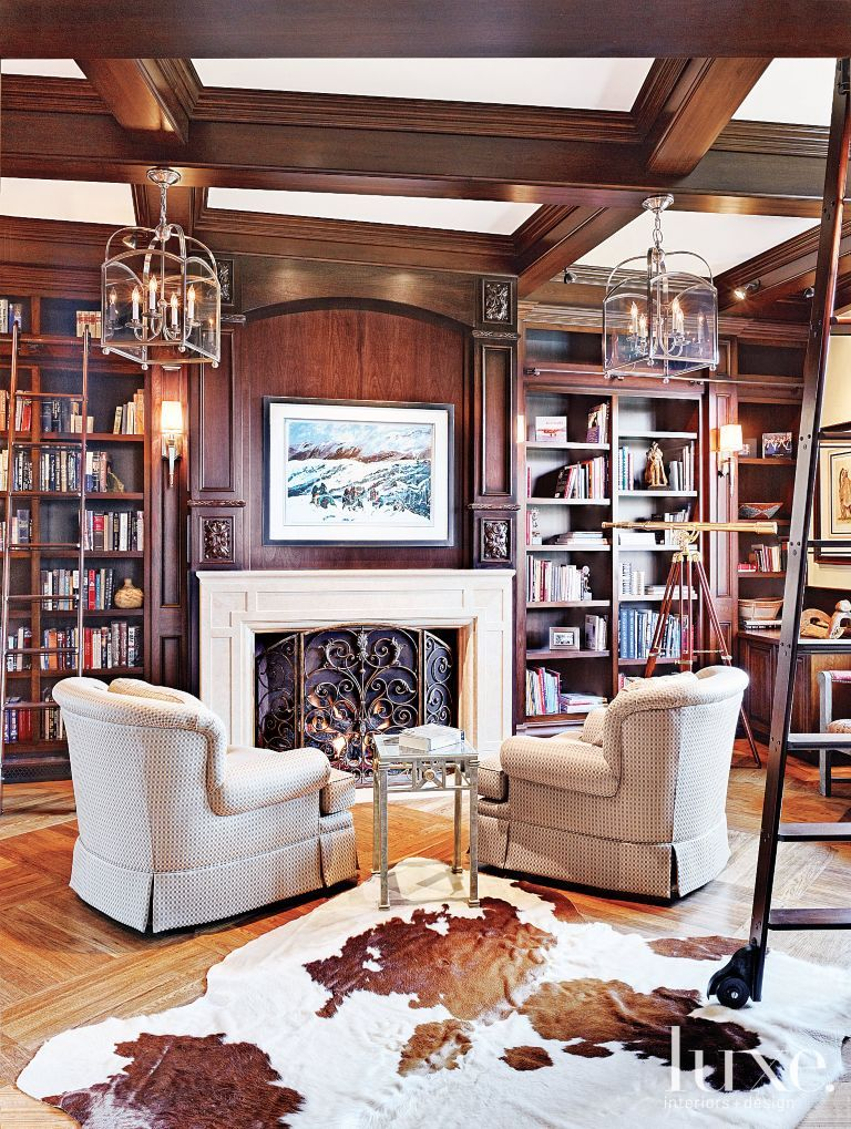 Mediterranean Cherrywood Study 1920s Home Decor Interior Design