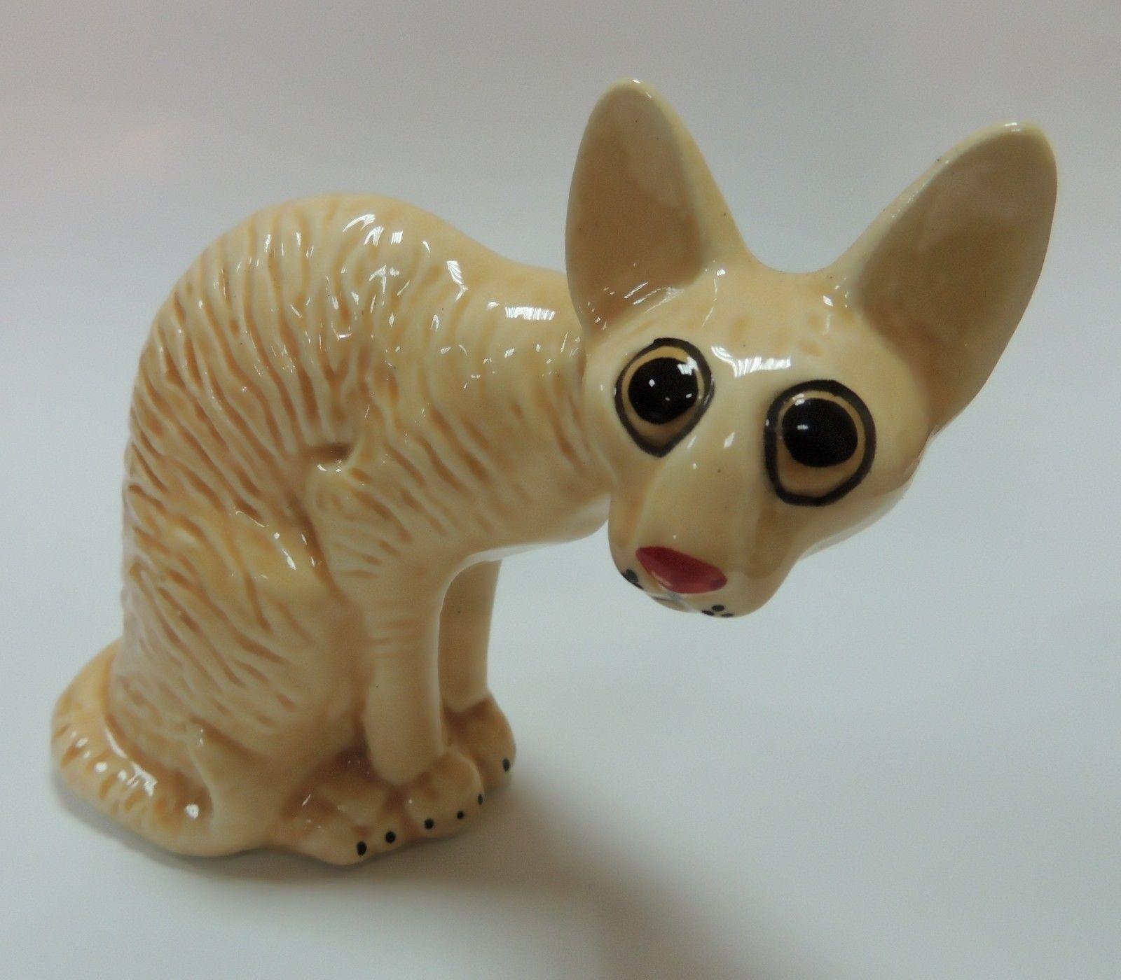 Porcelain Figurine of Sphynx Cat Kitty Kitten