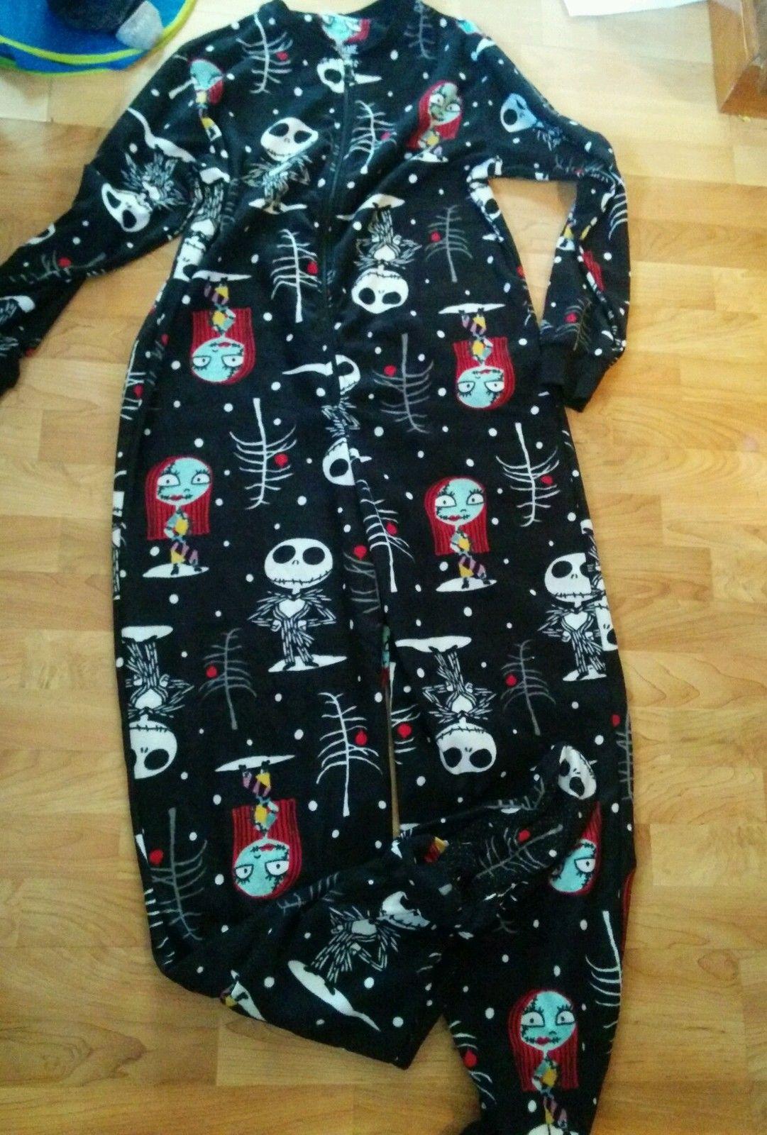 Disney Nightmare Before Christmas Adult Footed Pajamas | eBay ...