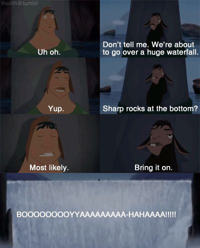 Emperors New Groove Waterfall Scene Because Disney