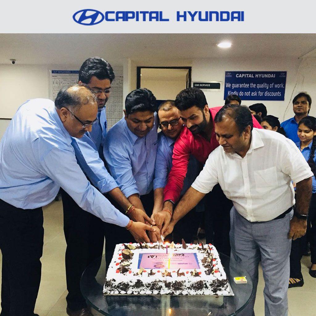 Capital Hyundai, Noida celebrates HMIL's roaring success