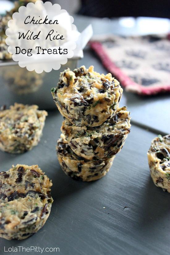 Chicken Wild Rice Dog Treat Recipe Easy dog treat