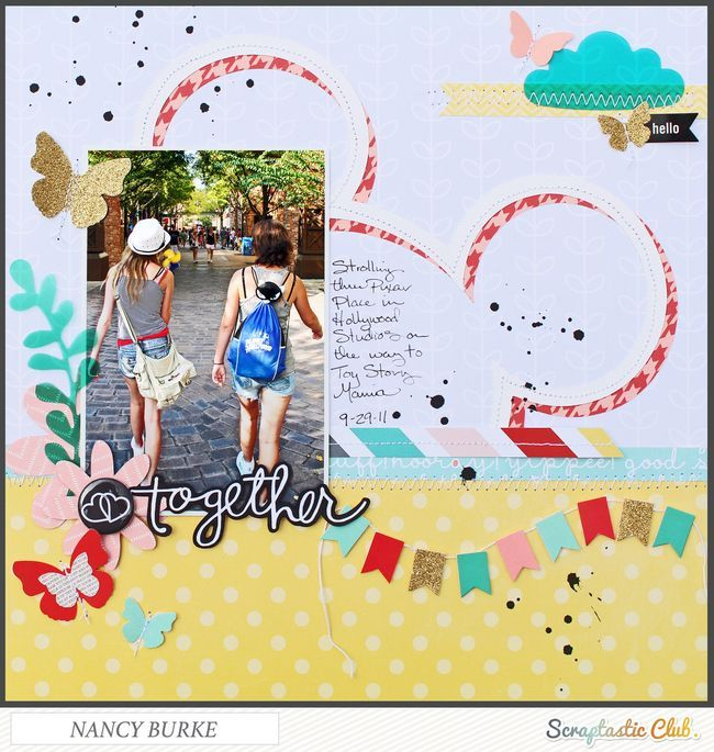 Together by Nancy Burke using the Scraptastic Club Counting Stars kit