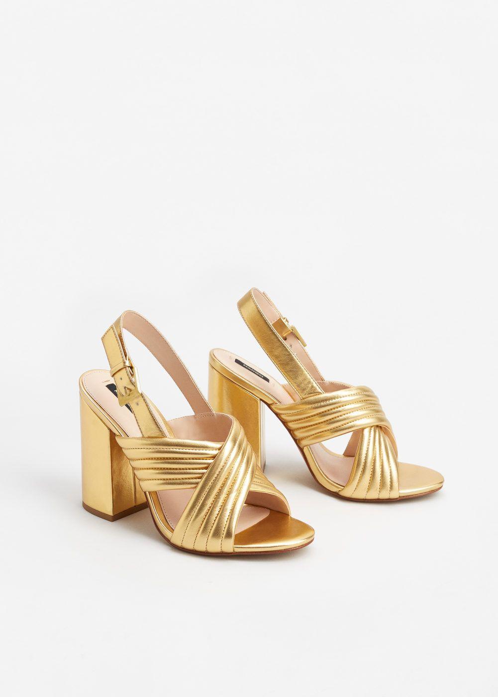 1965643f4daae Sandales croisées métallisées - Femme   Shoes