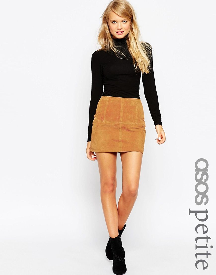 Image 1 of ASOS PETITE Mini Skirt in Suede | Spring & Summer Style ...