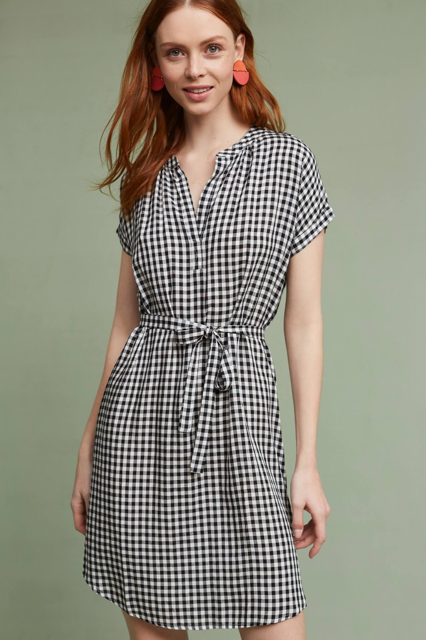 Shop the Belted Gingham Tunic Dress and more Anthropologie at Anthropologie  today. Read customer reviews e248e81ceac