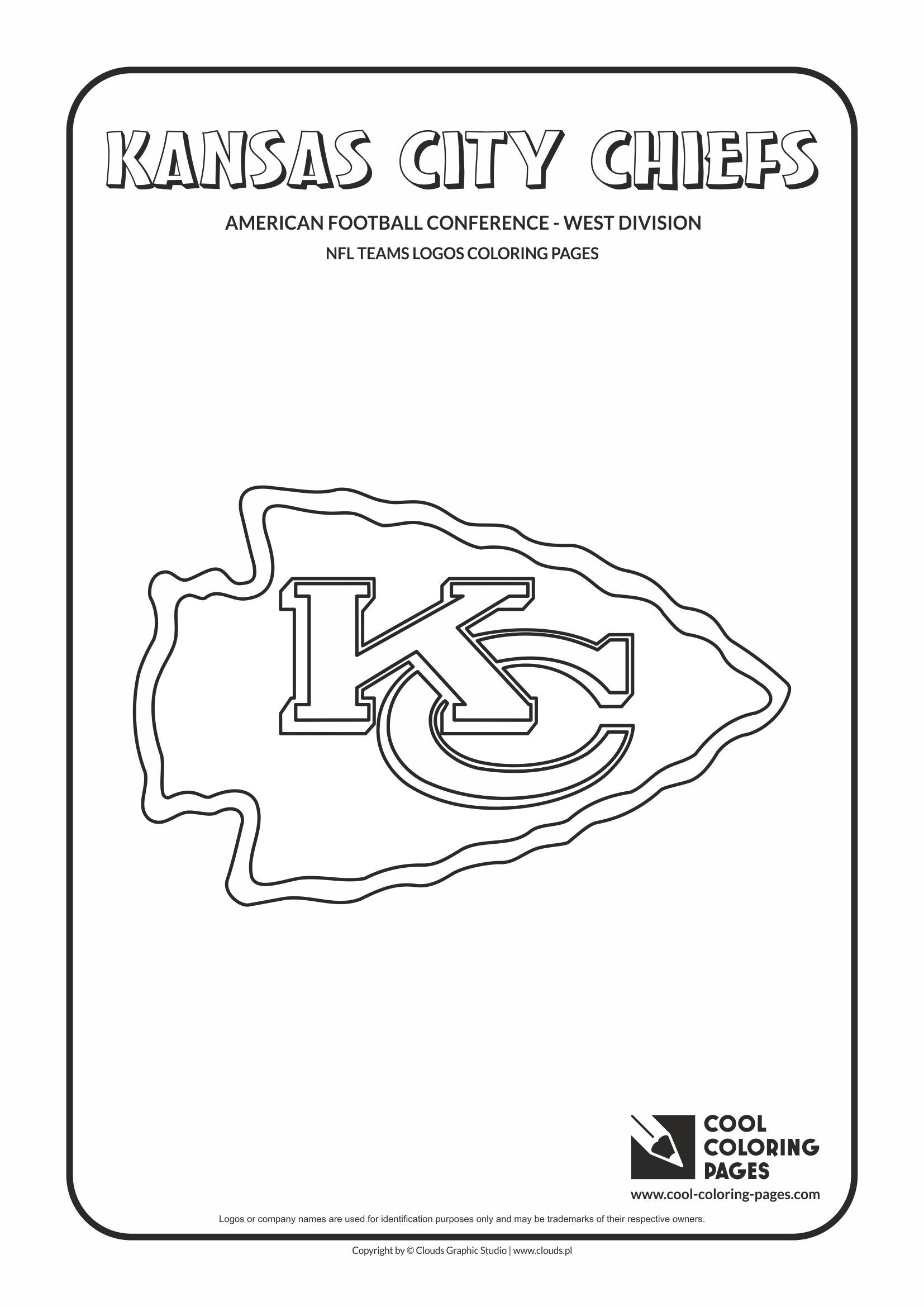 Kansas City Chiefs Nfl American Football Teams Logos Coloring