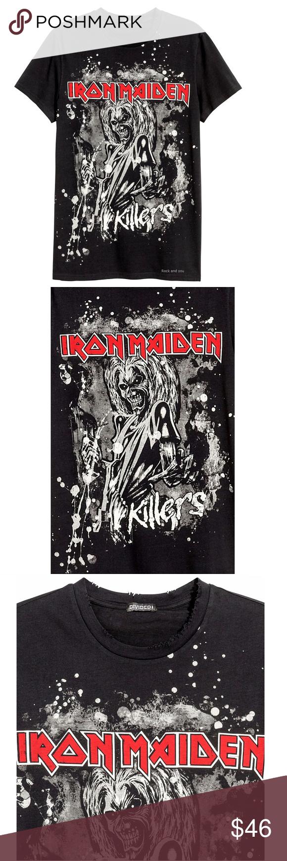 Iron Maiden Killers Metal T Shirt L Xl Nwt Metal T Shirts T Shirt Shirts