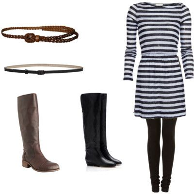 I already own almost every part of this outfit. I just need that dress and a great pair of black boots.