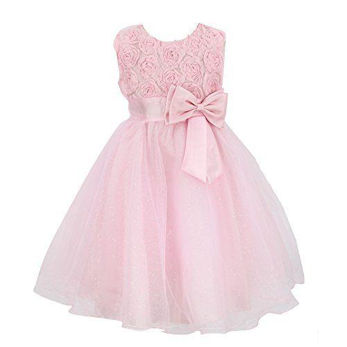 Girls Flower Formal Wedding Bridesmaid Party Christening Dress Children Clothing Lace Princess Dresses Kid